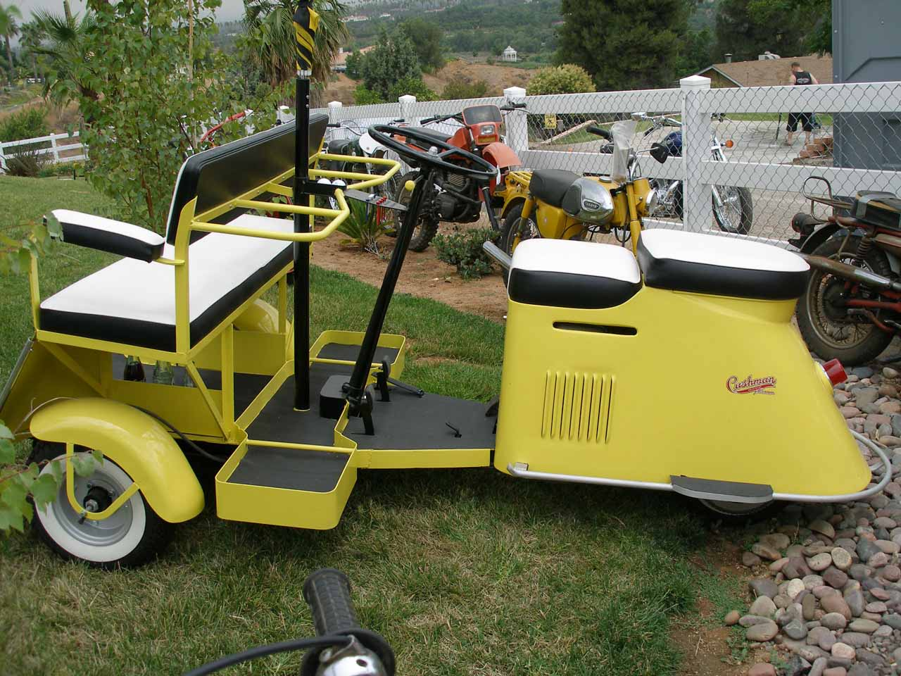 One Person Golf Cart >> Cushman 1954 Golf Cart